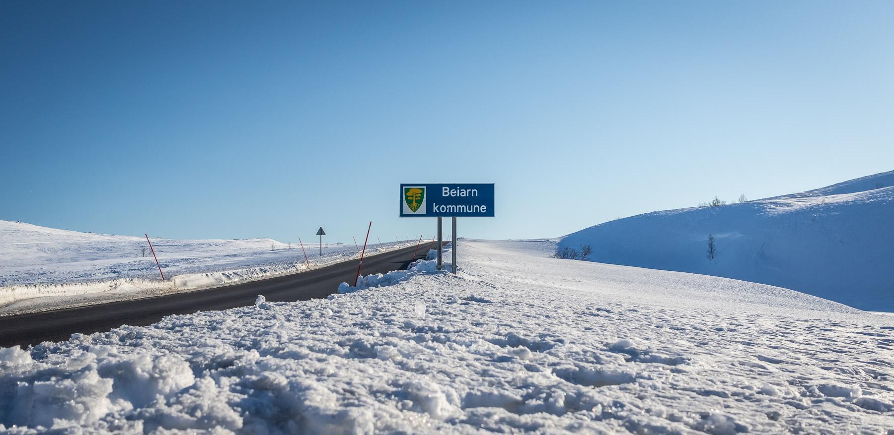 Mennesker og historier fra Beiarn Kommune, Nordland. Fylkesvei 813 over Beiarfjellet er eneste bilvei inn til Beiarn Kommune.
